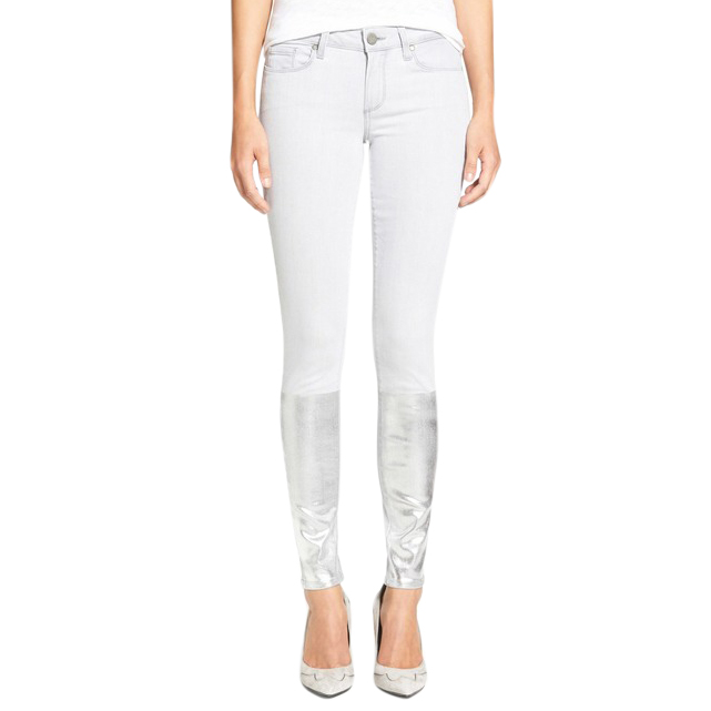 Paige Light grey silver solstice Verdugo ultra skinny jeans