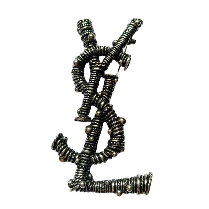 2b14fe55684 Saint Laurent Berber Weave Opyum Brooch | HEWI London