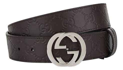 Gucci 90cm Dark Brown Guccisima Belt