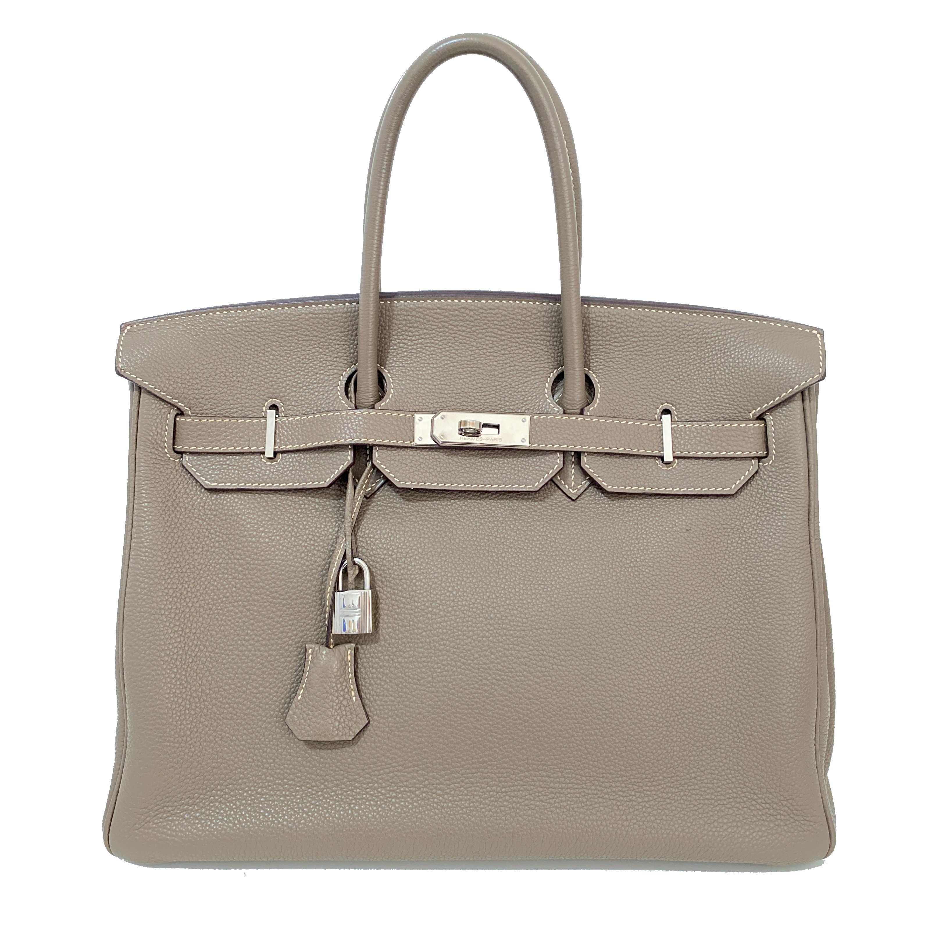 Hermes Etoupe 35cm Togo Leather Birkin