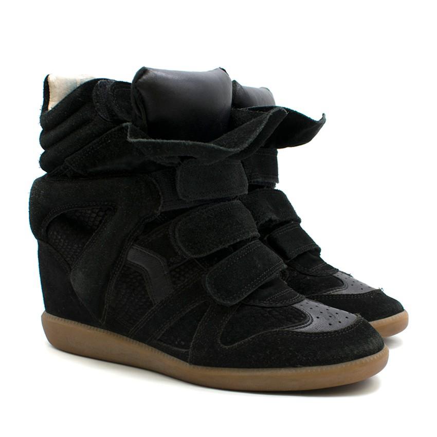 cd37675b28f0 Isabel Marant Bekett Suede Wedge Sneakers 1   HEWI London