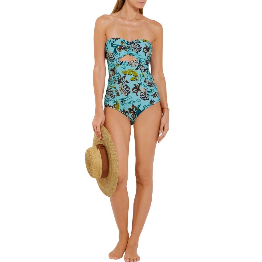 Anna Sui Pineapple Print One-Piece Swimsuit