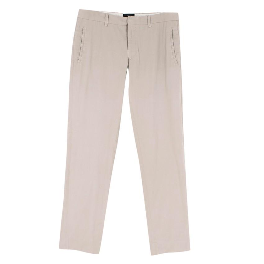 Joseph Men's Light Grey Casual Trousers