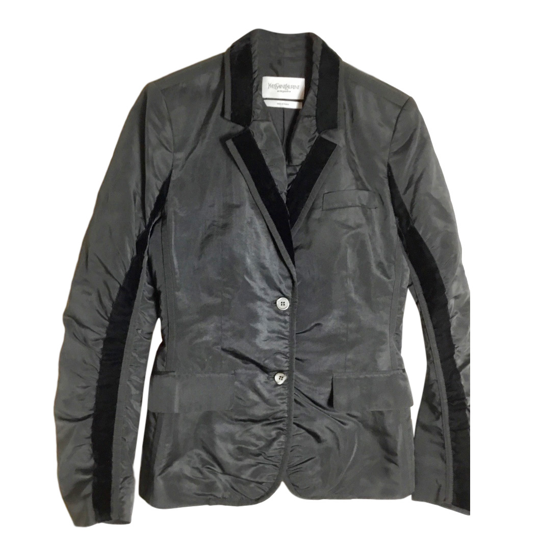 Yves Saint Laurent Velvet-Trimmed Blazer, size 42