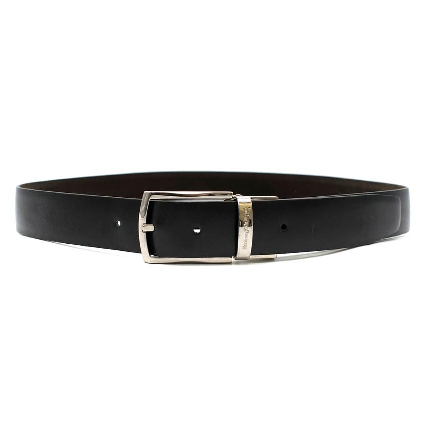 Ermenegildo Zegna Black and Brown Reversible Belt