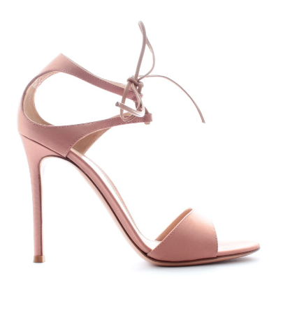 Gianvito Rossi Pink Satin Sandals