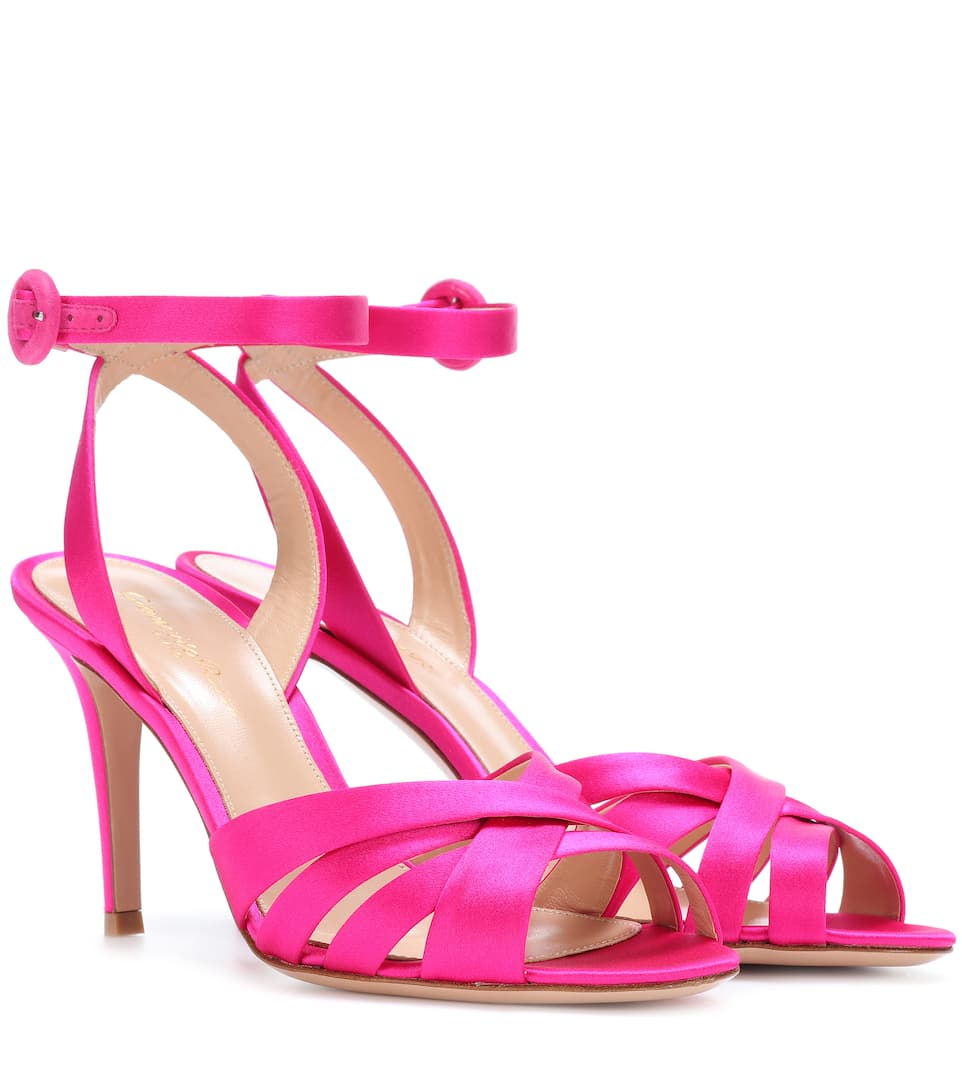 Gianvito Rossi Pink Satin Sandals - Exclusive to Mytheresa.com