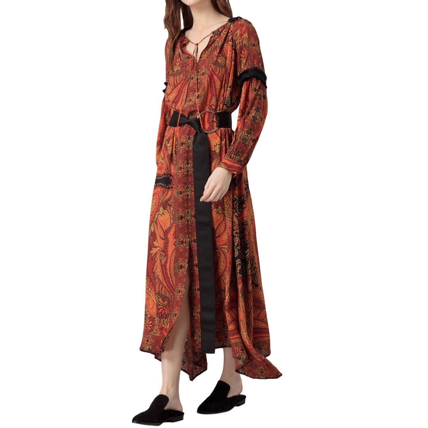 Amanda Wakeley Printed Crepe de Chine Midi Dress - New Season