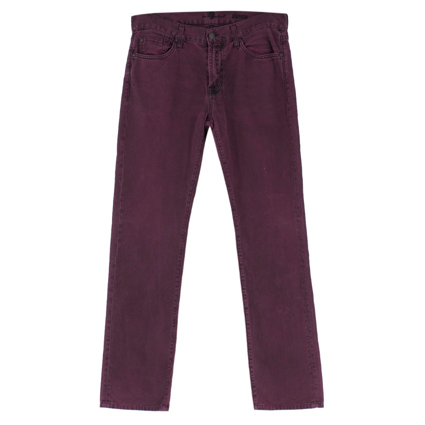 7 For All Mankind Purple Slim Fit Jeans