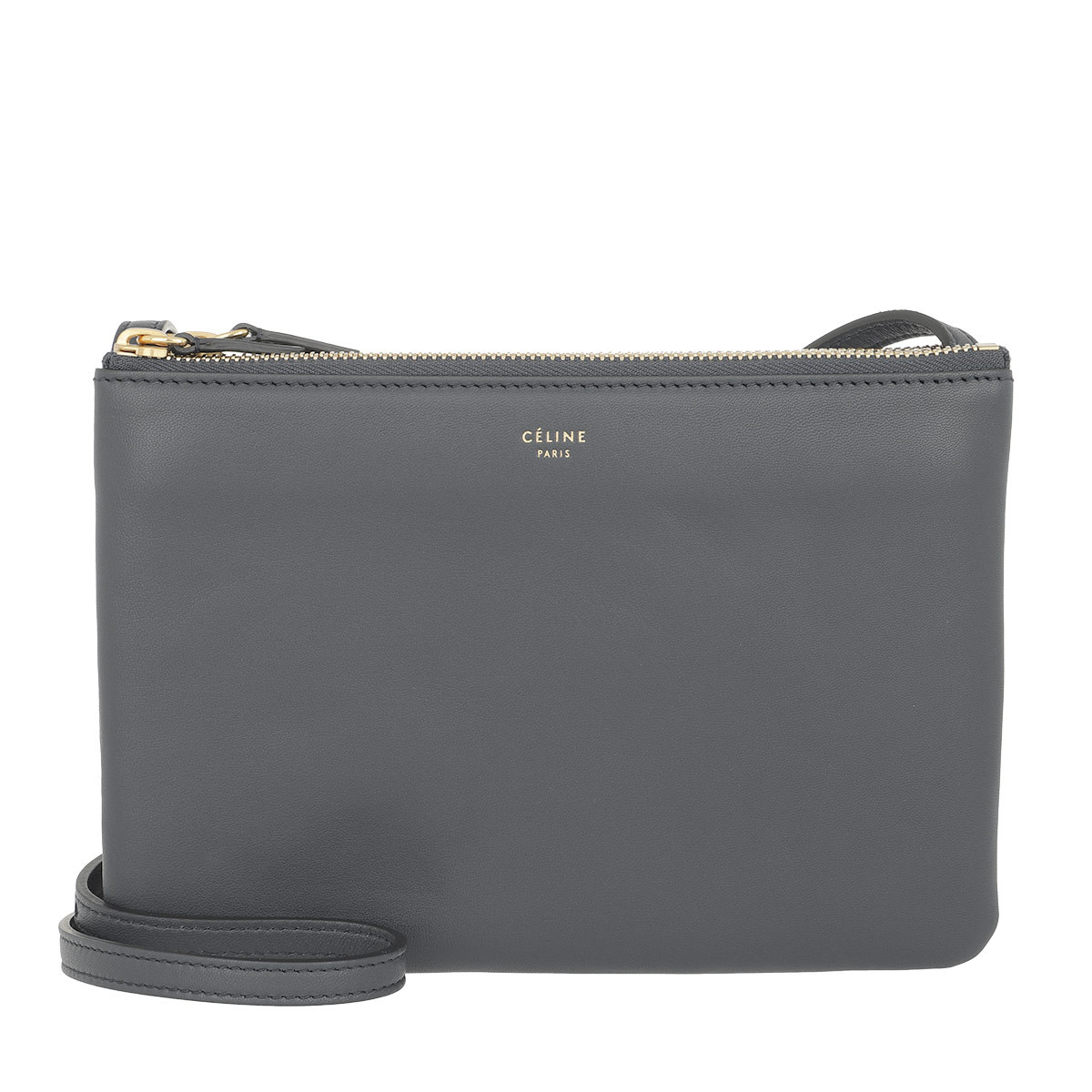 Celine Leather Zinc Trio Crossbody Bag