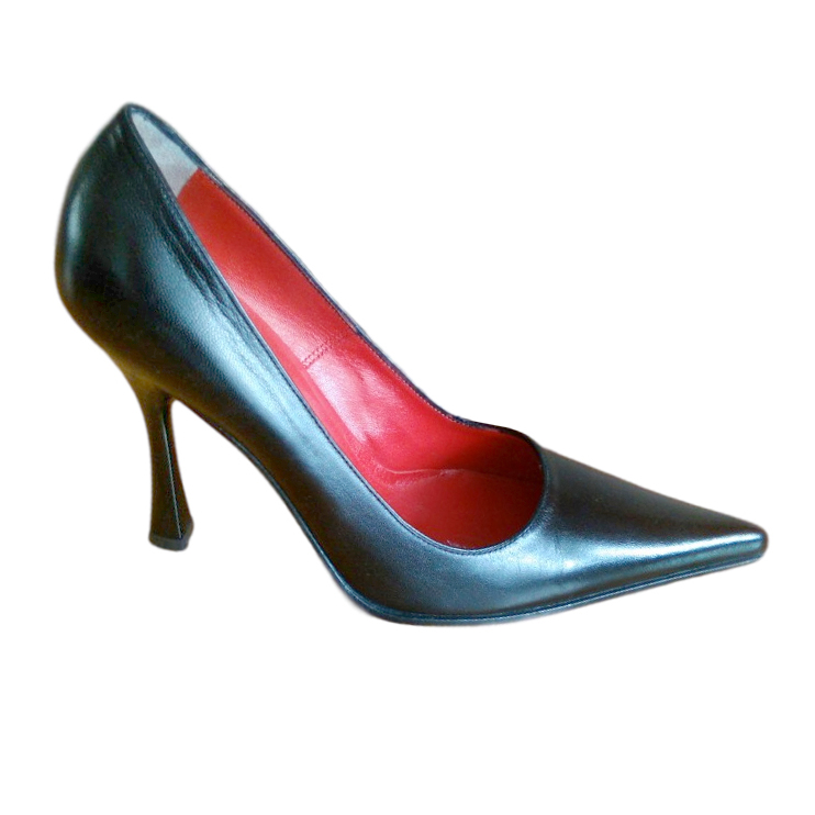 Luciano Padovan Goatskin Pointed Toe Pumps