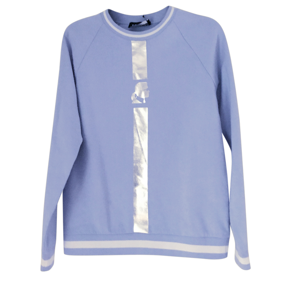 Karl Lagerfeld Metallic Stripe Sweatshirt