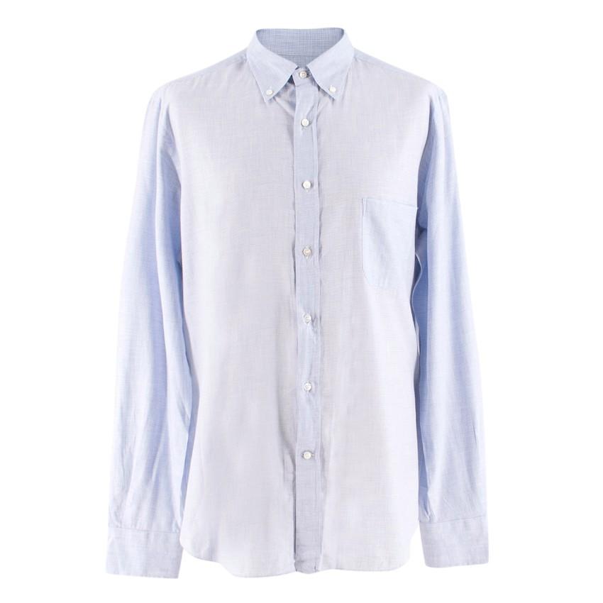 Loro Piana Blue Checkered Shirt