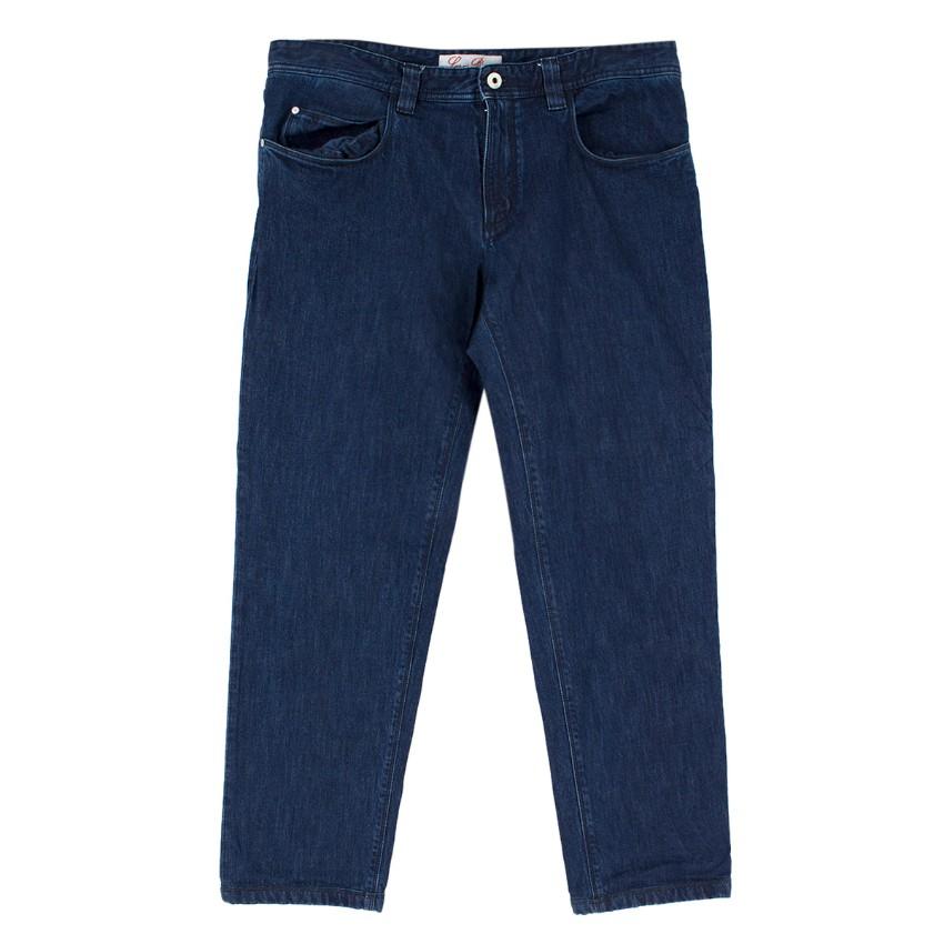 Loro Piana Men's Dark Blue 5 Tasche Slim Jeans