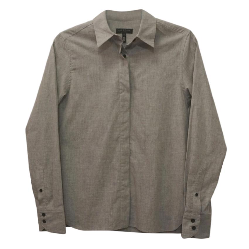 Rag & Bone Grey Cotton Shirt