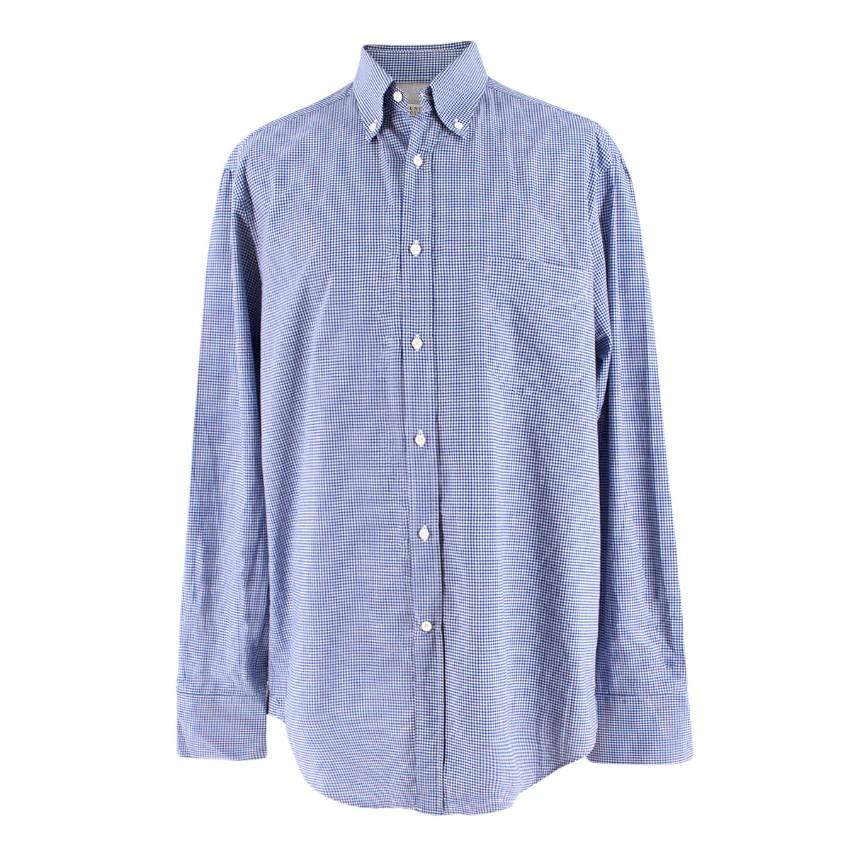 Brunello Cucinelli Men's Gingham Check Print Shirt