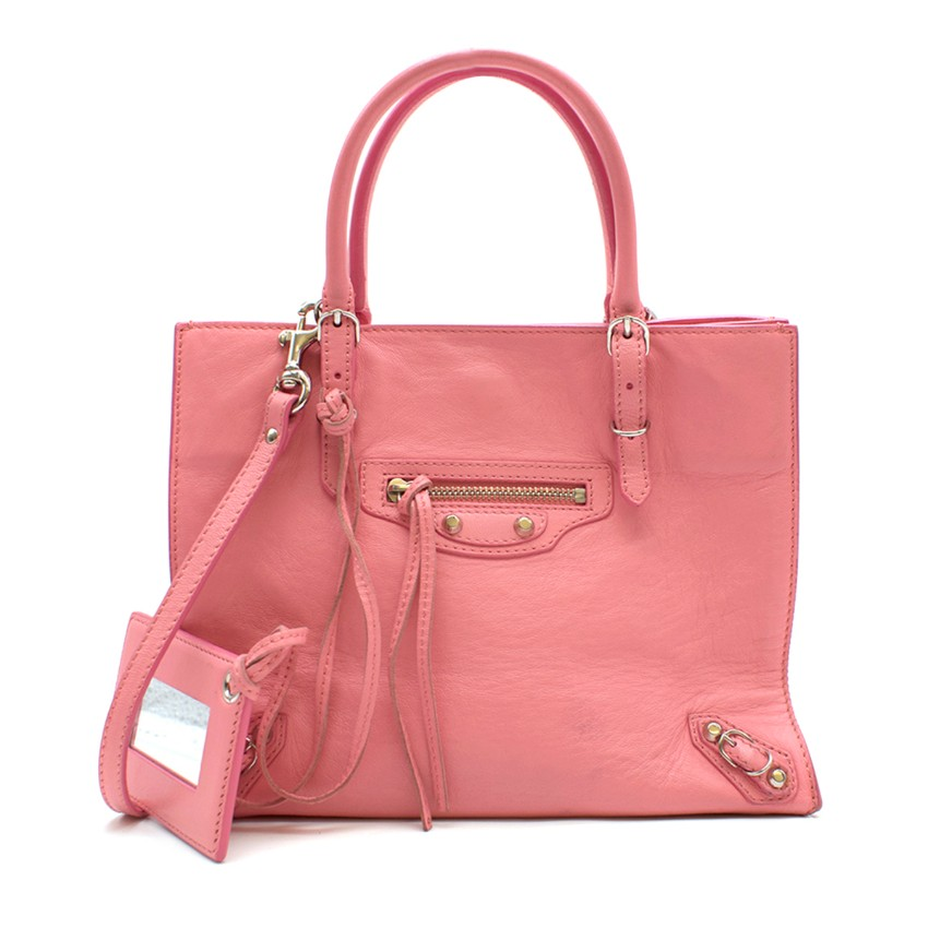Balenciaga Pink Papier A4 Crossbody Mini Bag