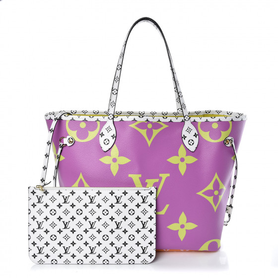 Louis Vuitton Giant Neverfull MM in Pink/Lilac Monogram