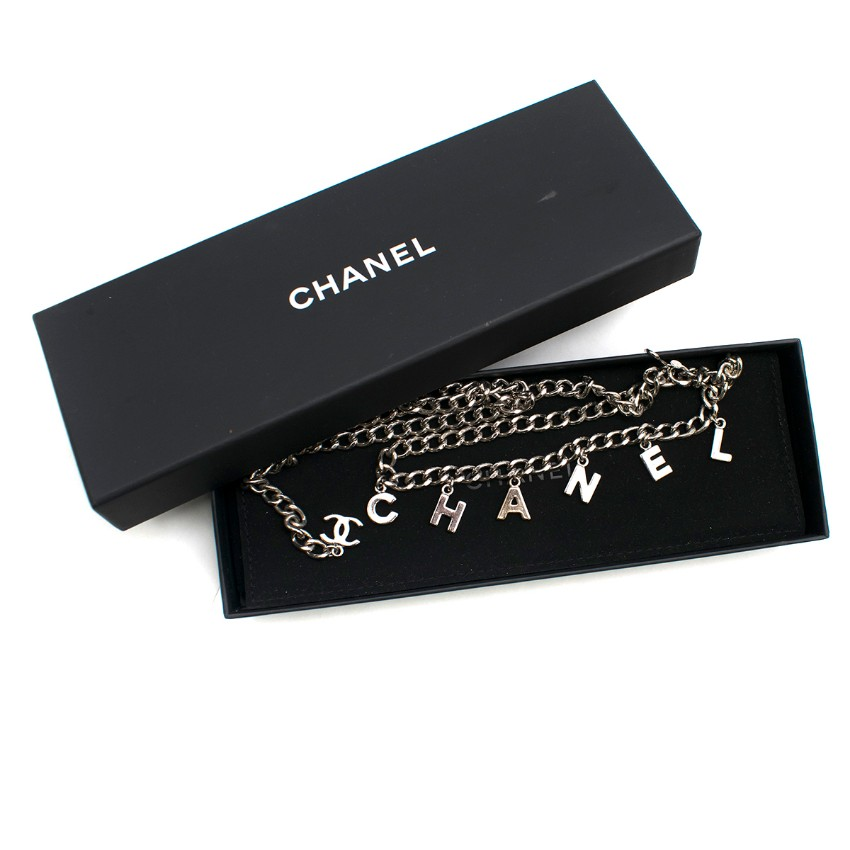 Chanel CC Logo Charm Chain Belt
