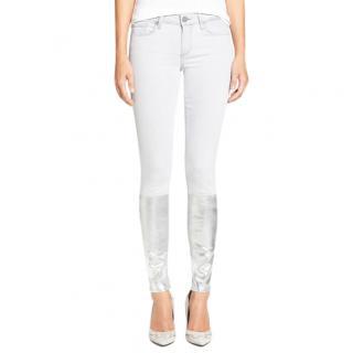 Paige Light grey silver solstice Verdugo ultra skinny jeans