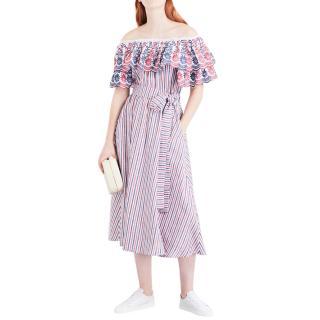 Gul Hurgel off the shoulder linen blend dress