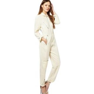 M.I.H Jeans Cream All In One Jumpsuit