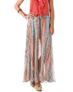 Haute Hippie Silk Sheer Voile Maxi Skirt
