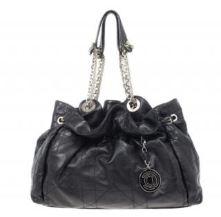 Dior Black Cannage Le Trente Drawstring Tote