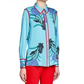 Diane von Furstenburg floral print shirt