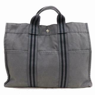 Hermes Grey Garden Party Tote Bag