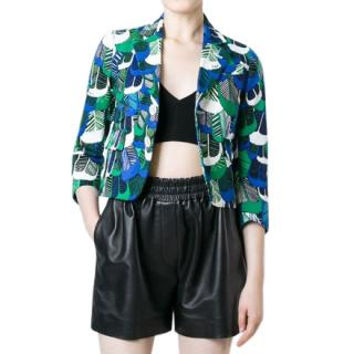 Dsquared2 feather print short jacket