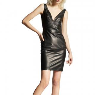 Dsquared2 Leather Little Black Dress