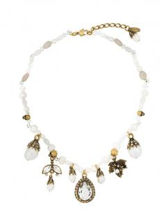 Alexander McQueen Charm Faux Pearl Necklace