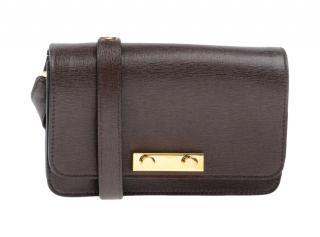 Marni Brown Leather Crossbody Bag