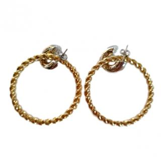 Balenciaga Twisted Rope Hoop earrings