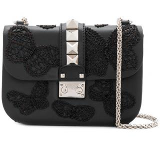 Valentino Garavani Butterfly Embroidered Small Chain Cross Body Bag