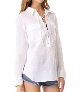 Equipment White Linen Shirt