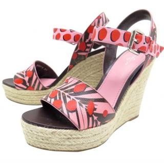 Louis Vuitton Monogram Jungle Wedge Sandals