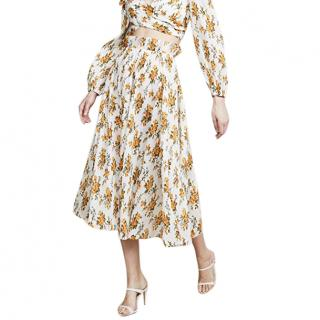 Zimmermann Golden Pliss� Midi Skirt
