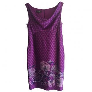 Escada Cowl-Neck Dress