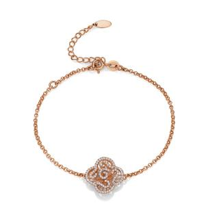 Fei Liu Rose Gold Cascade Mini Bracelet