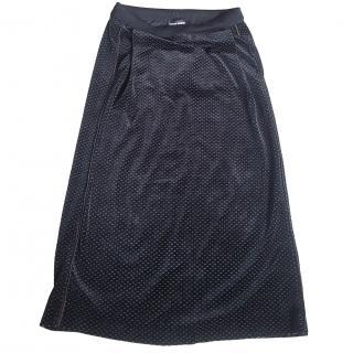 Sonia Rykiel Velvet A-line Midi Skirt