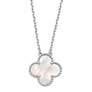 Van Cleef & Arpels Vintage Alhambra White-Gold Necklace