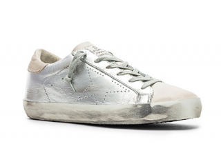 Golden Goose Superstar Silver Skate Trainers