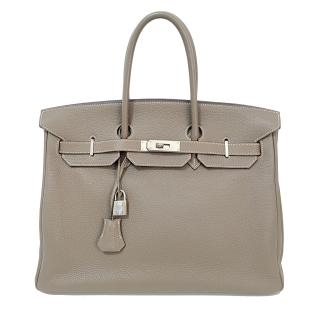 Hermes Etoupe 35cm Togo Leather Birkin