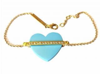 Victoria Casal Diamond Heart Bracelet
