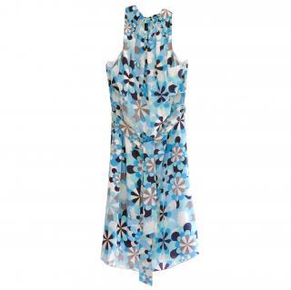 Love Moschino Blue Floral Halterneck Dress