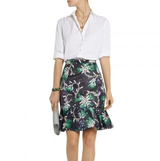 Mary Katrantzou Genero flared jewel-print satin skirt