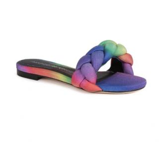 Marco De Vicenzo Ciabattina Rainbow Braided Slides - New Season