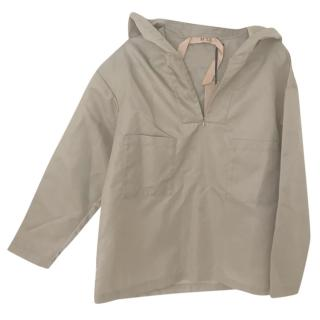 No.21 Taupe Hooded Jacket